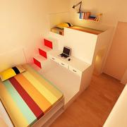 小户型单身公寓装修床铺图