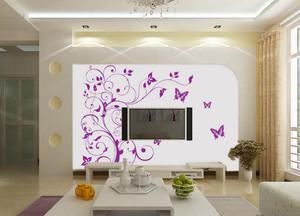 90平米大方的现代都市客厅液体壁纸装修效果图