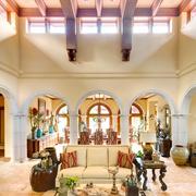 地中海风格客厅色调图