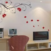 客厅液体壁纸设计色调图