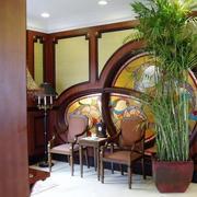 别墅室内装修桌椅图