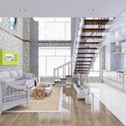 纯美白色的客厅装修效果图