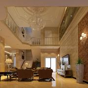 别墅大厅装修暖色调图