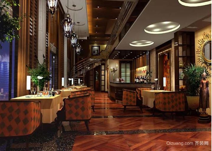 情侣地中海风格风格咖啡厅装修效果图