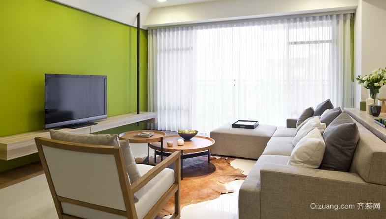 120平米大户型客厅飘窗设计装修效果图