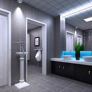 浅色调厕所装修设计图