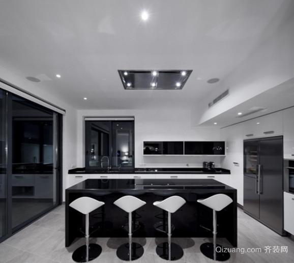一室一厅小户型开放式厨房设计装修效果图鉴赏