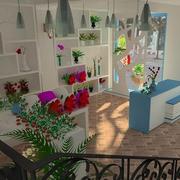 鲜花店内部设计图