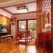 客厅玄关隔断装修中式设计