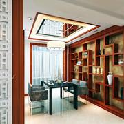 中式博古架装修书房