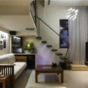 现代精致沙发背景墙设计