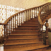 别墅型实木楼梯效果图