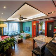 东南亚风格客厅吊灯图
