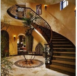 唯美浪漫的法式风格室内楼梯设计图片欣赏