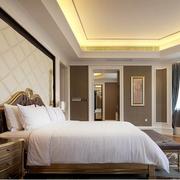 地中海风格窗帘装修卧室图