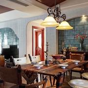 豪华餐厅色调搭配设计效果图