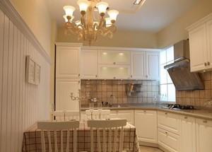 低调的优雅北欧风情开放式厨房装修效果图