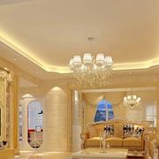 欧式风格客厅装修石膏线图