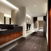 商场卫生间装修灯光设计