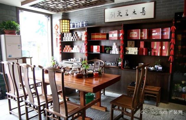 紫檀木中式客厅沙发茶几装修效果图