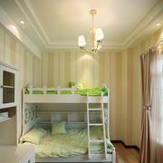 儿童房高低双层床装修灯光设计