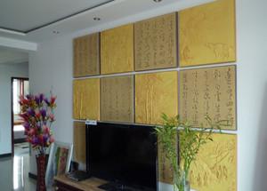 客厅魔块背景墙装修效果图