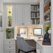 纯白书房装修效果图