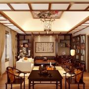 中式博古架装修客厅图
