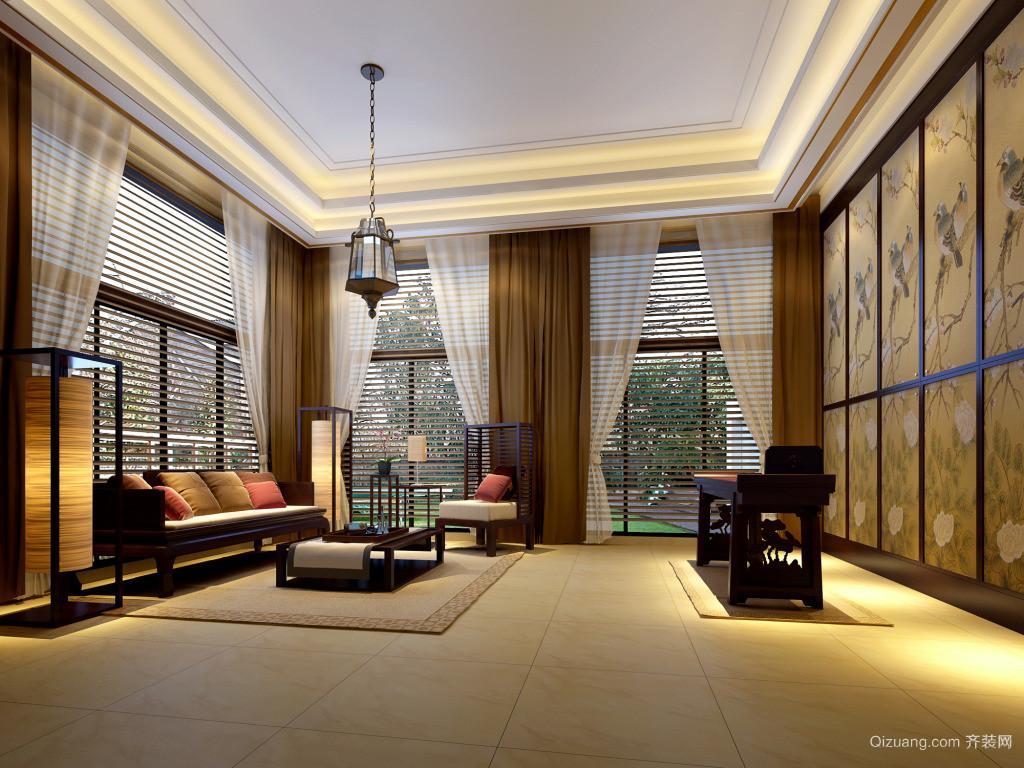 沉稳大气的东南亚风格的房设计装修效果图大全