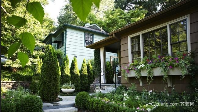 农村小洋房别墅入户花园装修设计效果图
