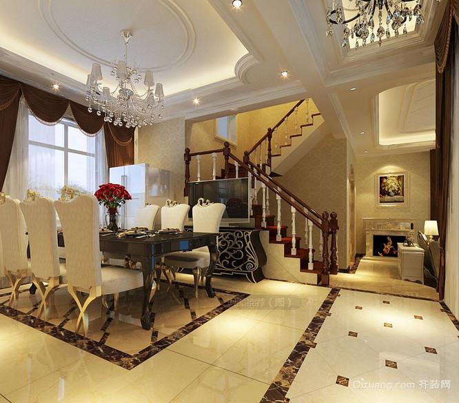 大户型富丽堂皇的欧式室内楼梯设计图片大全