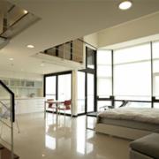 美观大气的客厅地板砖装修效果图