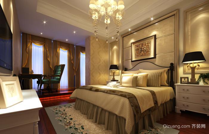 50平米简欧风格卧室背景墙装修