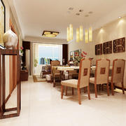 东南亚风格餐厅装修吊顶图