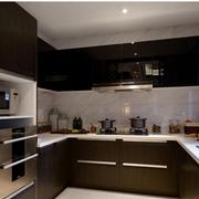 日式风格厨房装修橱柜图