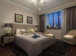 50平米都市混搭精美卧室装修效果图