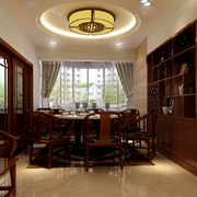 中式风格餐厅装修色彩搭配