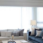 客厅飘窗设计装修窗帘图