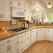 纯白色的整体橱柜设计效果图厨房效果图