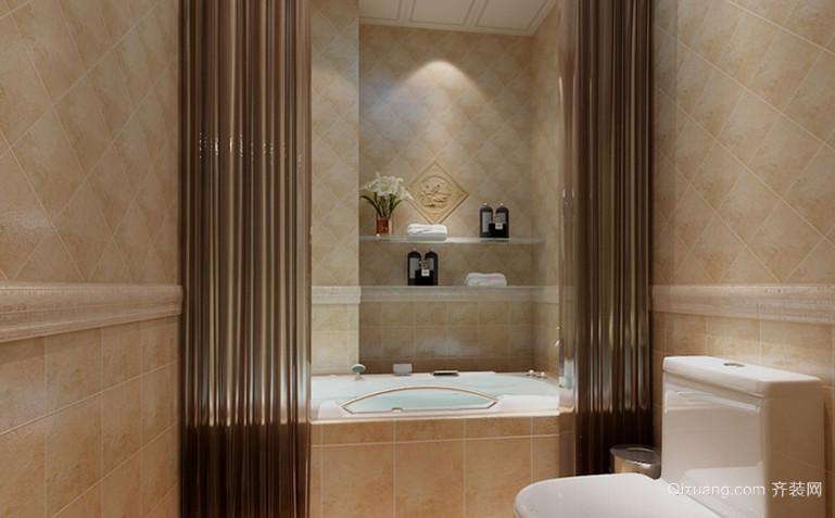 简约浪漫的法式卫生间设计装修效果图鉴赏