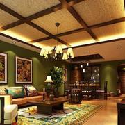 东南亚风格客厅色调搭配