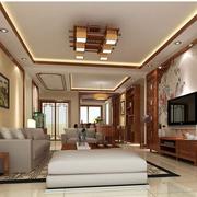 中式风格客厅装修整体图