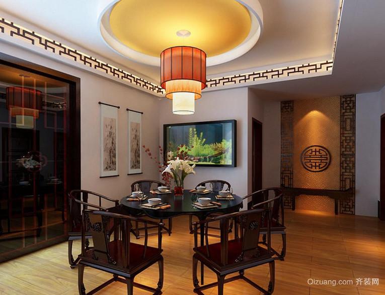 闻名世界的中式风格餐厅背景墙设计装修效果图