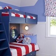儿童房高低双层床装修