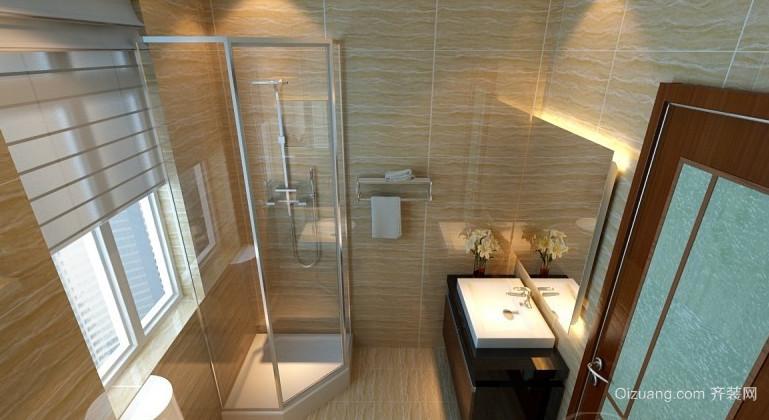 80平米现代简约小卫生间设计装修效果图大全