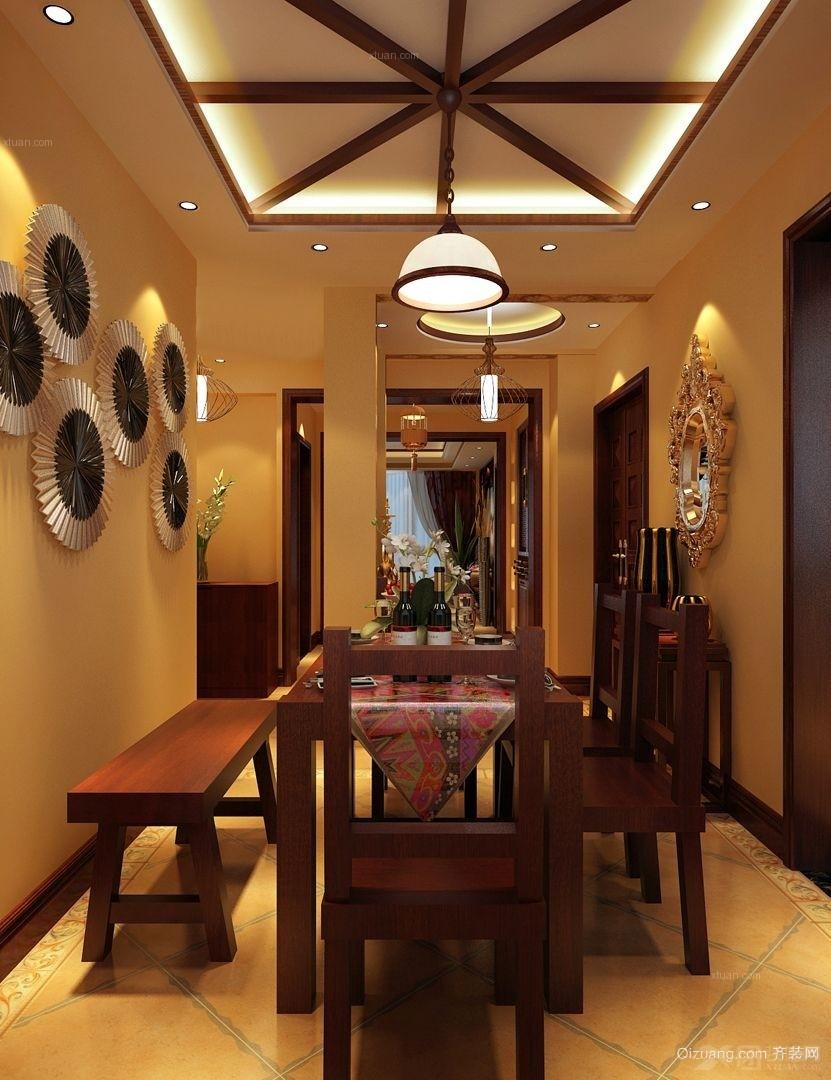 雅致的东南亚餐厅装修效果图