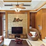 唯美的东南亚风格客厅效果图