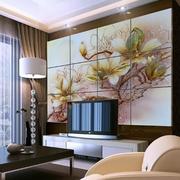 电视背景墙花纹设计效果图