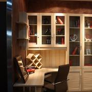转角书柜装修灯光设计