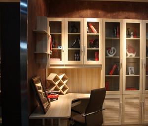 90平米现代都市转角书柜效果图